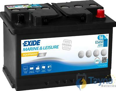 ES650 Exide G60 Marine and Multifit Gel Batterie Camping Bateau 56Ah