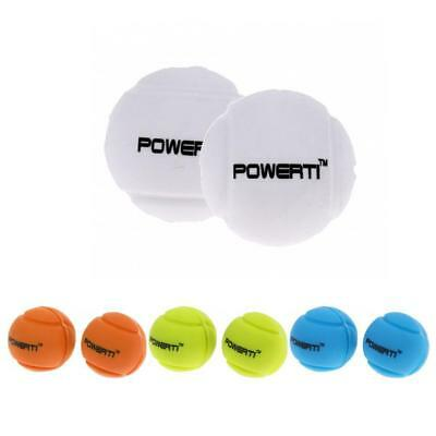8pcs Tennis Ball Shaped Vibration Dampeners Damp Shock Absorber for Racquets