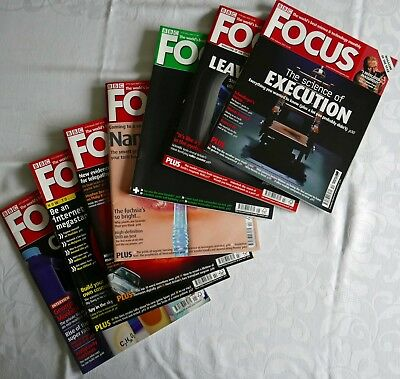 Seven Past Issues of BBC Focus magazines in good condition