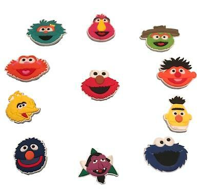 Sesame Street Elmo and Friends Fridge Magnet Set of 11 PVC Fun Character Magnets