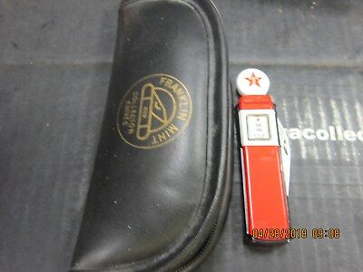 Texaco Franklin Mint Gas Pump Knife with Case
