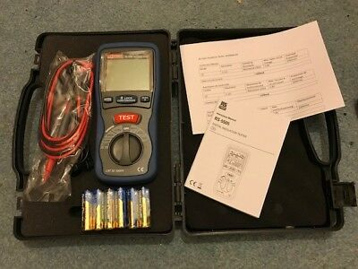 RS Pro RS-5505 Digital Insulation Tester with ABS Carry Case (New and unused)
