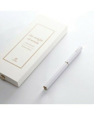 Ystudio: White Rollerball Pen - Limited Edition - Amazing Gift