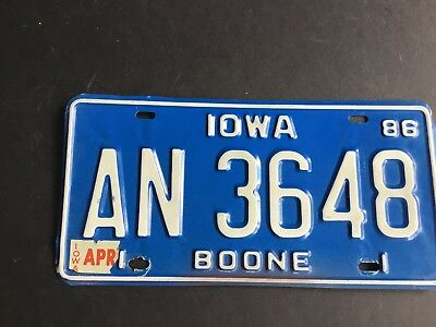 Offered here for sale is a fine, original and authentic, unused, unmounted  pair of NOS 1973 Iowa Truck license plates. Includes FREE BOXED SHIPPING.