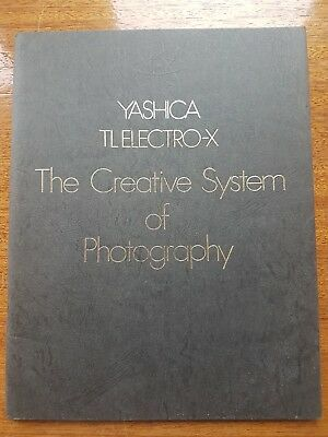 YASHICA TL ELECTRO-X Creative System of Photography HIGH QUALITY BROCHURE