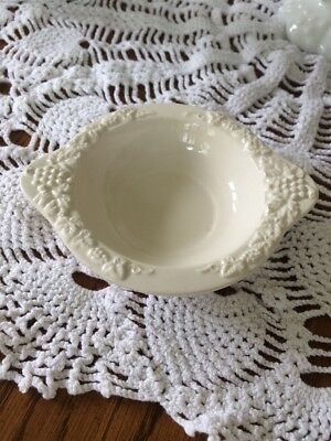 Vintage Lefton Renaissance White Ceramic Small Bowl Japan