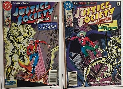 Justice Society of America 2 Comic Lot (1 3) 1991