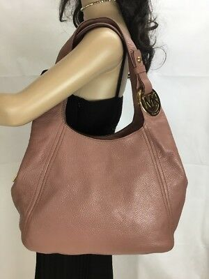 a234c7d84a7f MICHAEL KORS FULTON Dusty Rose Large Shoulder Tote Leather -  129.00 ...
