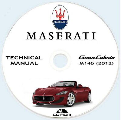 Workshop Manual,manuale officina Maserati GranCabrio M145 anno 2012/2013
