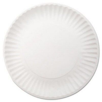 Plate Dixie White Disposable Paper 9 Inch Diameter DXEWNP9OD Pack/250
