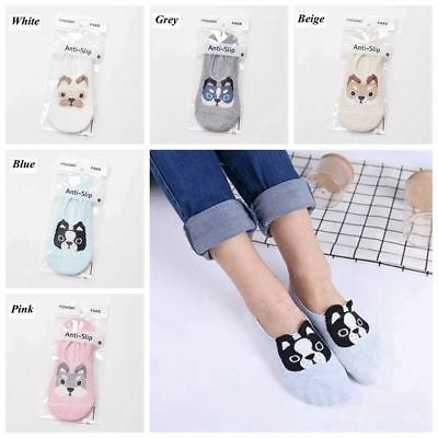 Soft Casual Cute Crew Ankle Socks Cotton Cartoon Dog