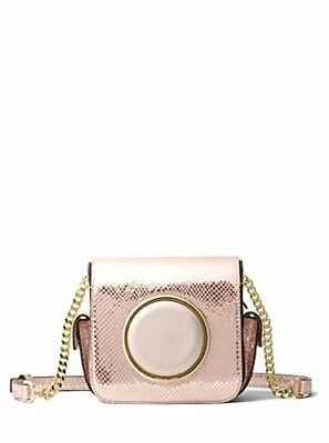 a88ff5b73ea5 MICHAEL KORS Scout Small Camera Bag Rose Gold Embossed Leather Crossbody bag