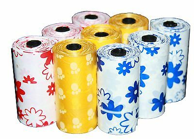 6750 Dog Pet Waste Poop Printed Color Bags 450 Refill Rolls With Plastic Core