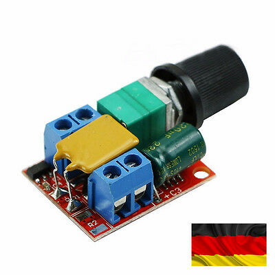 5A Mini DC Motor PWM Speed Controller DC 3V-35V Speed Control  LED Dimmer
