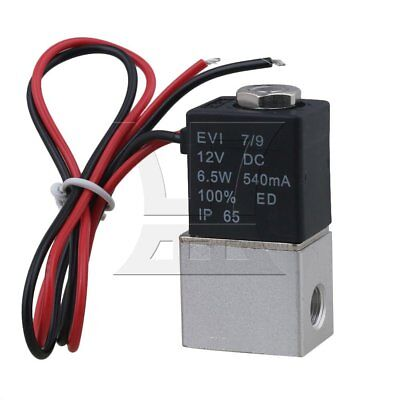 G1/8 DC12V 2 Way Normally Closed Solenoid Air Valve Water Flow Switch