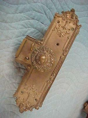 Antique Solid Cast Brass VICTORIAN GOTHIC AESTHETIC Door Knobs, Back Plates Lock