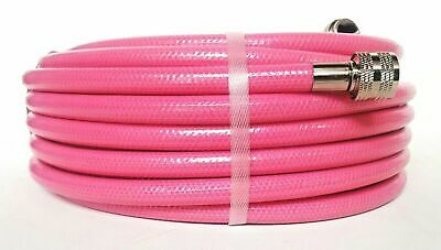 PINK GARDEN LAWN WATERING HOSE 12mm x 30m ANTI KINK CRIMPED BRASS FITTINGS