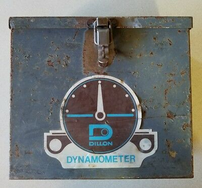 "Rusty Gold Find! DILLON DYNAMOMETER Steel Box CASE ONLY Used for 5"" 10,000lb 10K"