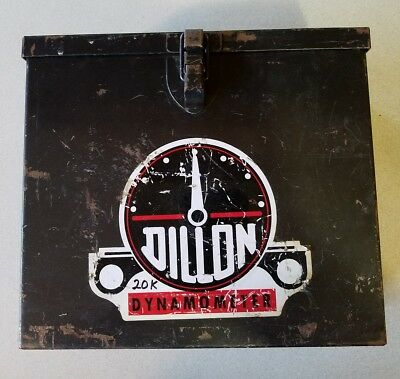 Rusty Gold Find!  DILLON DYNAMOMETER Steel Box CASE ONLY Used for 20,000 lb 20K