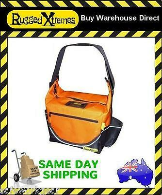 Rugged Xtremes PVC Orange Insulated Crib Lunch Bag Work Storage Extremes