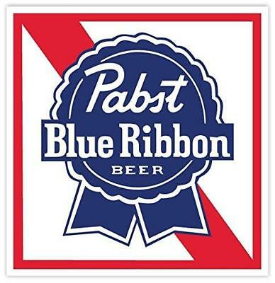 "PABST BLUE RIBBON Beer Vinyl Sticker Decal 4""x4"""