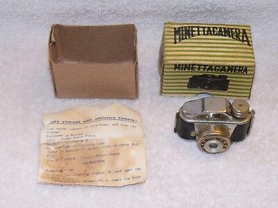 Hit type Minetta subminiature camera with box and instructions