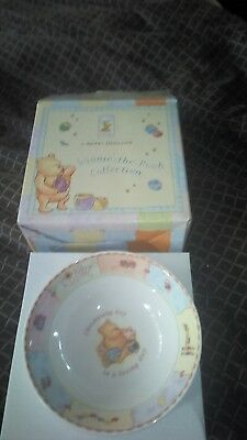 Classic Winnie the Pooh plate bowl and cup set/new baby/christening gift & CLASSIC WINNIE the Pooh plate bowl and cup set/new baby/christening ...