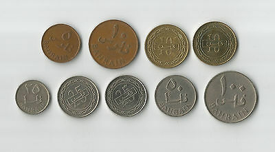 Bahrain 9 different coins to add to your world coin collection