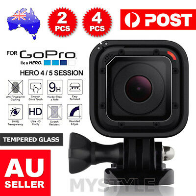 2x LCD Tempered Glass Screen Protector Protective for GoPro Hero 5 4 Session OZ
