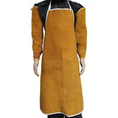 New Welding Apron Leather Safety Bib Welders Labor Work Protective Cloth