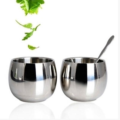 New Stainless Steel Cup Drinking Coffee Tea Tumbler Camping Mug Glasses