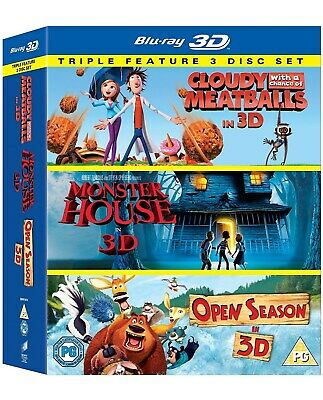 Cloudy With a Chance of Meatballs/Monster House/Open Season (3D Edition) [Blu-