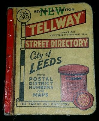 Vintage Tellway Street Directory City of Leeds 5th Edition