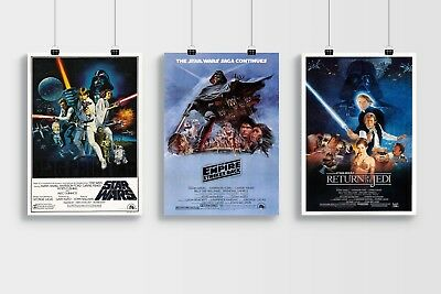 Star Wars Trilogy Film Poster Collection A4 & A3