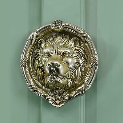 Sandringham' Polished Brass Lion Knocker