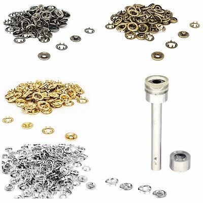 Snap Poppers Prong Press Studs Fasteners With Fixing Tool Kit 20mm Clothing Ba