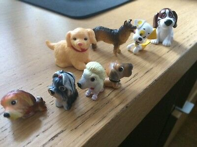 Small Plastic Toy Dogs Figurines Some from Cartoons ? Some with Numbers