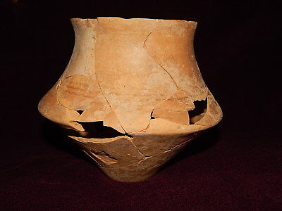 Ancient pottery shards (cup 150mm). Trypillian culture. Ukrainian artifacts.