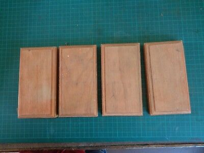 Vintage electrical fittings switch blocks, wooden mounts NOS