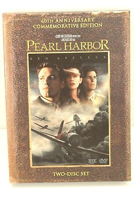 """DVD Movie PEARL HARBOR 60th Comm 2 disc Edition In Original """"Book Style"""" Jacket"""