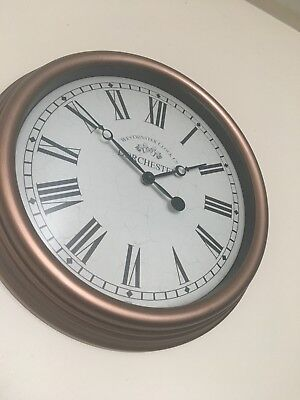 Retro chrome Wall clock, 13inch, round.