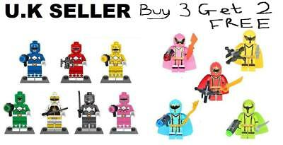 Power Rangers Minifigures Red Yellow White Mega Force Mystic Force Mini Figure