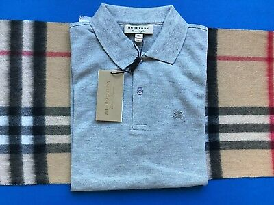 a47447160930 BURBERRY LONDON MEN Gray Cotton Polo Shirt New With Tags - $55.00 ...