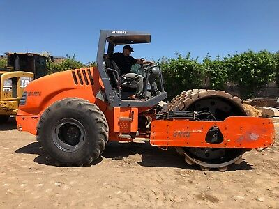 """2010 Hamm 3410P 84"""" Padfoot Drum Vibratory Compactor Roller; 4105 HRS"""