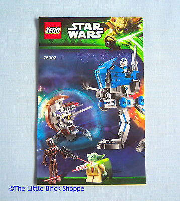 Lego Star Wars 75142 Homing Spider Droid Instruction Book Only