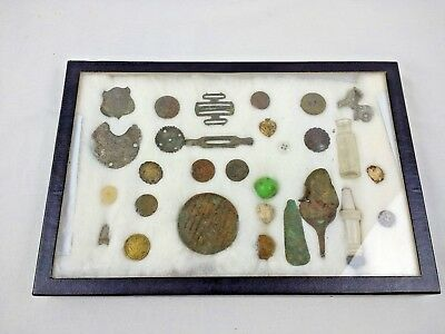 Button Token Bottle Marble Metal Detecting Vintage Lot of Finds Antique