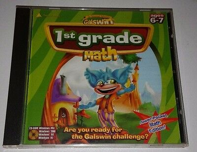 GALSWIN 1ST GRADE MATH Educational Pc Cd Rom For Ages 6-7