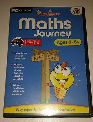 Bright Sparks Maths Journey Educational Pc Cd Rom For Ages 6 - 8+