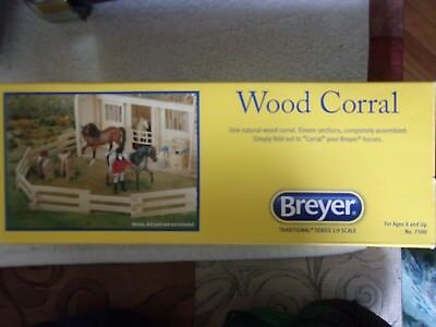 Breyer Natural Wood Corral Fencing Horse Accessory Toy #7500 NIB LAST CHANCE