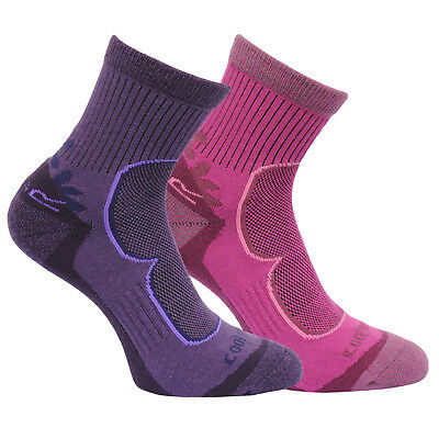Regatta Damen 2 Paar Aktiv Lifestyle Socken Blackberry 3-5